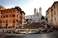 Morning at the Spanish Steps